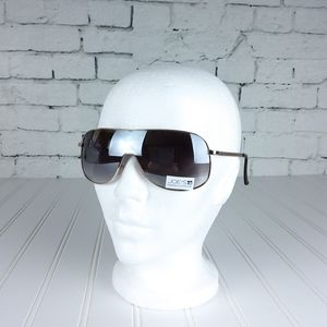 Joe's Jeans Shield Sunglasses Gold With Gry Lens